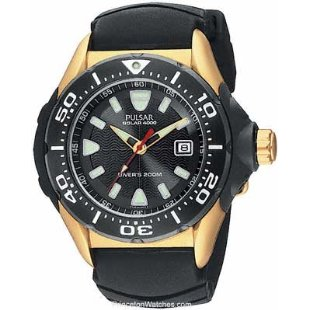 Pulsar PUA120 Tech Gear Solar Rubber Dive Watch