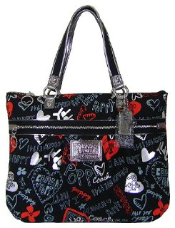 Coach Poppy Graffiti Glam Tote (16052)