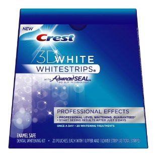 Crest 3D White Whitestrips Professional Effects Kit with Advanced Seal (Box of 20 pouches of upper and lower strips, 40 strips total)