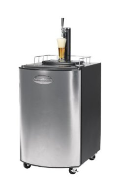 Nostalgia Electrics Kegorator KRS-2150 Stainless Steel Beer Keg Fridge