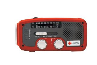Eton MicroLink FR160 American Red Cross AM/FM/NOAA Weather Radio with Flashlight, Solar Power and Cell Phone Charger (ARCFR160R)