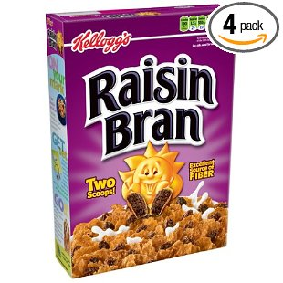 Kellogg's Raisin Bran Cereal, 20-Ounce Boxes (Pack of 4)