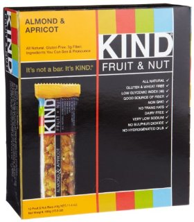 KIND Fruit & Nut, Almond & Apricot, All Natural, Gluten Free Bars (Pack of 12)