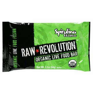 Raw Revolution Organic Live Food Bars, Spirulina and Cashew, 2.2-Ounce Bars (Pack of 12)