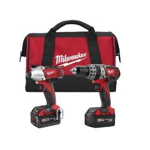 Milwaukee M18 1/2 Hammerdrill, Impact Driver 2-Tool Combo Kit (2697-22)