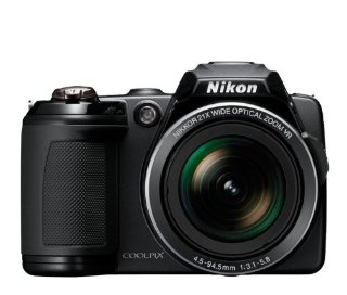Nikon Coolpix L120 14.1MP Digital Camera with 21x  Optical Zoom (Black)