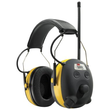 3M Tekk WorkTunes AM/FM Hearing Protector with Digital Tuning and MP3 Input (90541)