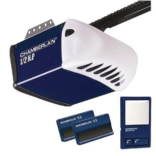 Chamberlain PD212D 1/2 HP Chain Drive Garage Door Opener with 2 Remotes, Wall Control Panel