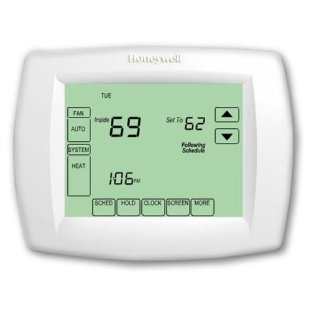 Honeywell TH8320U1008 Vision Pro 8000 7-Day Touchscreen Thermostat (with 3 Heat Stages, 2 Cool Stages)