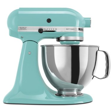 KitchenAid KSM150PSAQ Martha Stewart Blue Collection Artisan 5 Qt. Stand Mixer (Aqua Sky)