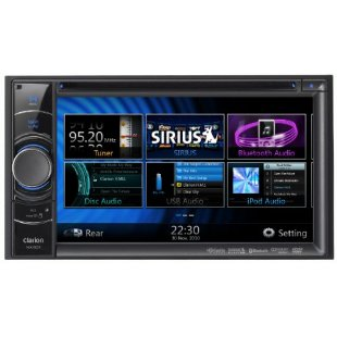 Clarion NX501 6.2 1-DIN Multimedia Control Station with GPS, DVD, USB, Bluetooth, HD-Radio and Satellite Radio Ready