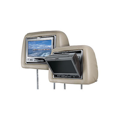 Audiovox Movies 2 Go Dual Video Headrest Kit with Integrated DVD Player and Intergable Covers (MMD7HRPKG)