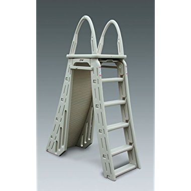 Confer 7200 A-Frame Above Ground Adjustable Roll Guard Safety Ladder