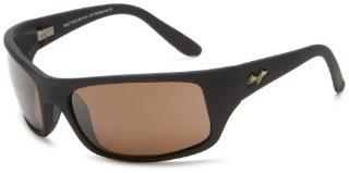 Maui Jim Peahi ST Sunglasses (H202-2M, Matte Black/HCL Bronze)