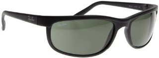 Ray Ban Predator 2 RB 2027 W1847 Sunglasses (Matte Black/Crystal Green, 63mm)
