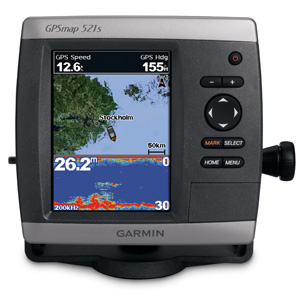 Garmin GPSmap 521s with Dual Frequency Transducer (010-00760-01)