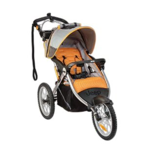 Jeep Overland Limited Jogging Stroller (Fierce Orange)