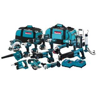 Makita LXT1500 Li-Ion 18V LXT Cordless 15-Piece Combo Kit