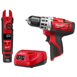Milwaukee 2207-21P M12 Cordless Fork Meter with 2410 Cordless Drill Combo Kit