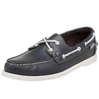 Sebago Docksides Men's Boat Shoes (Navy)