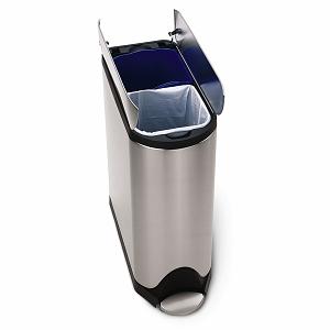 simplehuman Butterfly Step Recycler w/ dual bins (20x2 Liter / 5.3x2 Gallon)