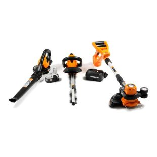 Worx WG901 Cordless 18V Combo Kit with Blower/Sweeper, String Trimmer/Edger and Hedge Trimmer (aka WG901.1 and WG901-1SU)