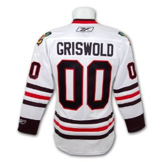 Clark Griswold Christmas Vacation Blackhawks Premier Replica Hockey Jersey
