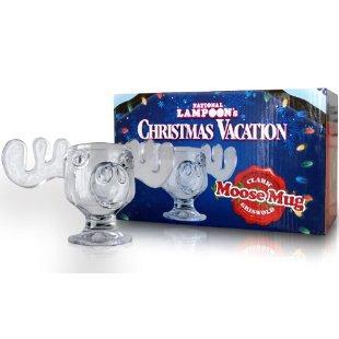 national lampoons christmas vacation glass moose mug set of 2 officially licensed - Moose Mugs Christmas Vacation
