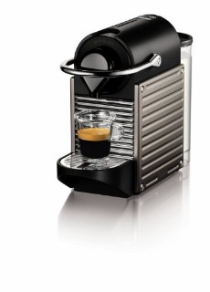 Nespresso Pixie Espresso Maker (Electric Titan)