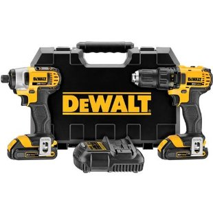 DeWalt DCK280C2 20V Max Li-Ion Compact Drill and Impact Driver Combo Kit