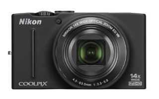 Nikon Coolpix S8200 16.1MP Digital Camera with 14x Zoom and Full HD 1080p Video  (Black)