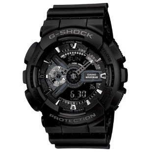 Casio G-Shock GA110-1B Stealth Black Military X-Large Watch