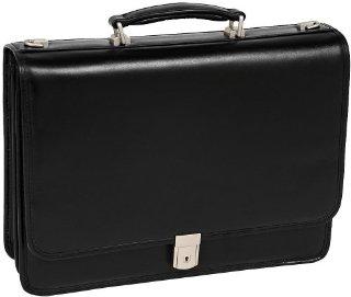McKlein Lexington 83545 Leather Double Compartment Laptop Briefcase (Fits up to 17 Laptop, Black)