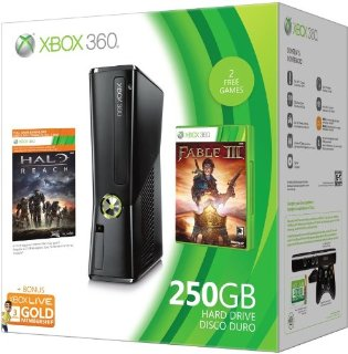 Xbox 360 250GB Holiday Value Bundle with Halo Reach and Fable III