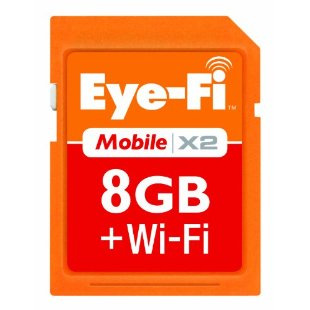 Eye-Fi Mobile X2 8GB SDHC Class 6 Wireless Memory Card