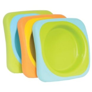 Beaba Soft Plate Set - Stackable with Slip Resistant Base
