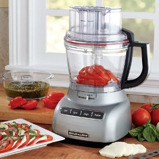 KitchenAid Precise Slice 13-Cup Food Processor (Contour Silver, KFP1333)