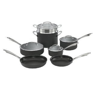 Cuisinart DSA-11 Dishwasher Safe Hard-Anodized 11-pc Cookware Set
