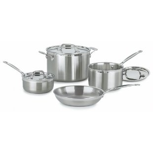 Cuisinart MCP-7 MultiClad Pro Stainless-Steel 7-pc Cookware Set