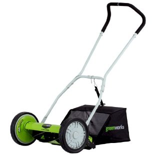 Greenworks 16 Push Reel Lawn Mower with Collection Bag (25052)