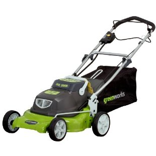 Greenworks 18 Electric  2-in-1 Self Propelled Lawn Mower with Collection Bag (25092)