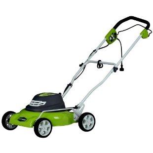 Greenworks 18 Electric Mulching Lawn Mower (25012)