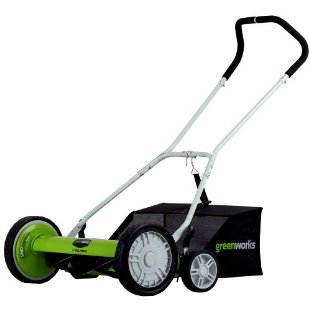 Greenworks 18 Push Reel Lawn Mower with Collection Bag (25062)