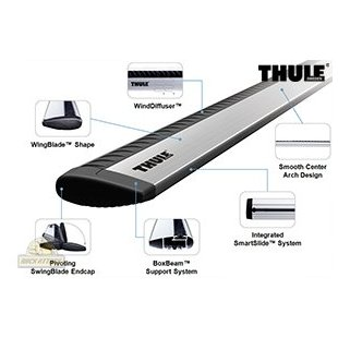 Thule ARB53 Aeroblade 53 Roof Rack Bars