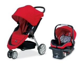 Britax B-Agile and B-Safe Travel System (Red)