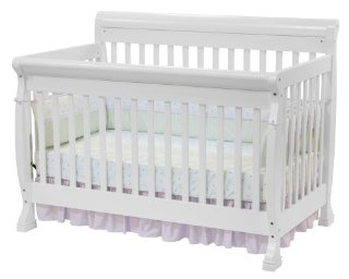 DaVinci Kalani 4-in-1 Convertible Crib with Toddler Rail (White)