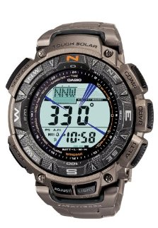 Casio PAG240T-7CR Pathfinder Triple Sensor Multi-Function Titanium Watch