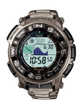 Casio PRW2500T-7CR Protrek Pathfinder Triple Sensor Tough Solar Titanium Watch