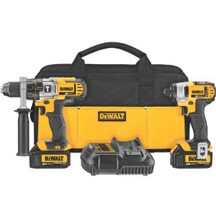 DeWalt DCK290L2 20V Max Li-Ion Hammer Drill and Impact Driver Combo Kit