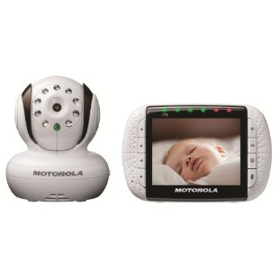 "Motorola MBP36 Remote Wireless Video Baby Monitor with Infrared Night Vision 3.5"" Color LCD, Zoom"